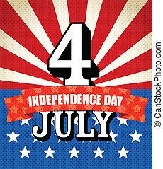 day., vecteur, indépendance, illustration, célébration