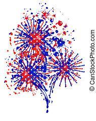day., vector, firework., onafhankelijkheid