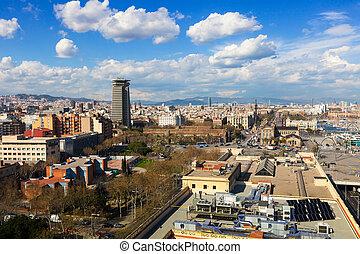 Barcelona in sunny day