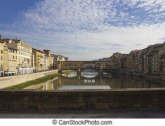 Day view of historic Ponte Vecchio bridge