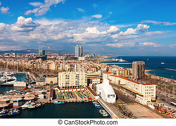 picturesque Barcelona cityscape - Day view of picturesque ...