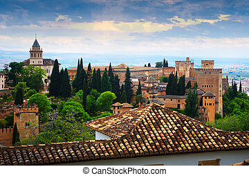 Day view to Alhambra. Granada, Spain