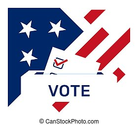 day., vote, etats, elections., élection, uni, papier