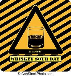 day., whisky, symbole, aigre