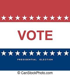 day., wybór, tło, vote.