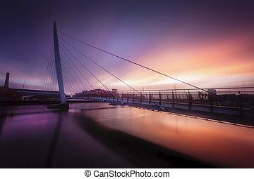 Daybreak at Swansea Sail Bridge