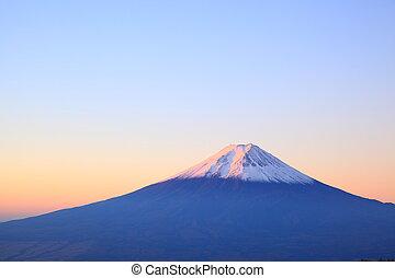 Daybreak at the Mt. Fuji, Yamanashi, Japan