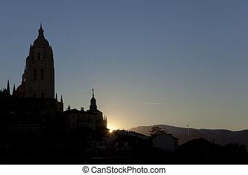 Daybreak in Segovia, Castilla y Leon, Spain