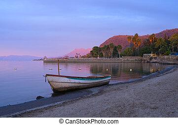 Daybreak on Lake Chapala Shores - Lake Chapala in Jalisco...