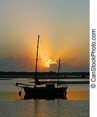 Daybreak Over Water