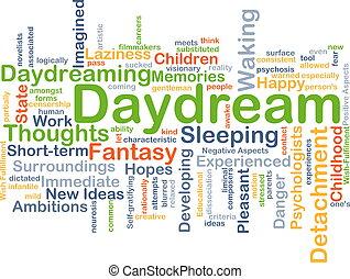 Daydream background concept