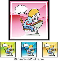 daydreaming, estudante