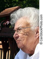 Daydreaming Senior Woman