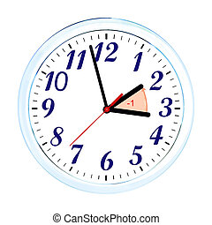 Daylight Saving Time. USA time zone 2017. Wall Clock going...