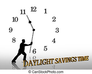 Daylight Savings Time graphic - Illustration composition of...