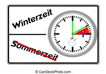 Daylight savings time, winter time,