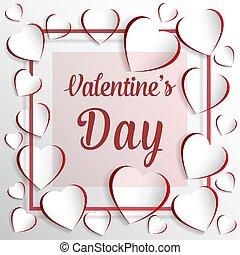 day's, カード, st., バレンタイン, 挨拶, フレーム