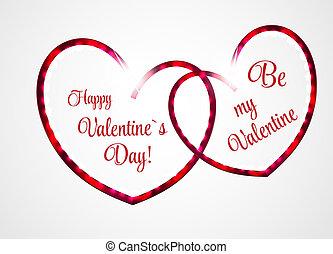 day's, スタイル, 挨拶, バレンタイン, ベクトル, デザイン, レトロ, st., カード