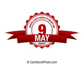 day's, 単純である, 慈善, may., 9, 現代, 日, ベクトル, イラスト, 寄付しなさい, 賃金, デザイン
