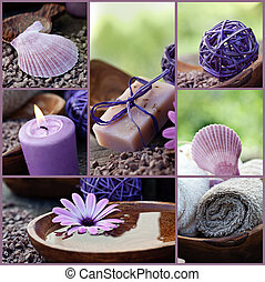 Dayspa violet collage