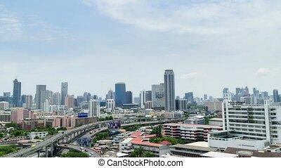 Daytime and transportation in Bangkok city Thailand, Timelapse