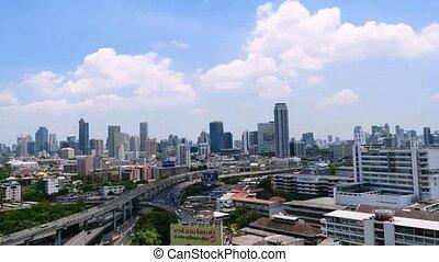 Daytime and transportation in Bangkok city Thailand, Timelapse 4k