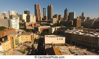 Daytime Blue Skies Downtown Atlanta East Coast Architecture...