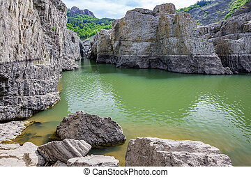 Daytime view, the amazing Devil Canyon, Bulgaria - Daytime...