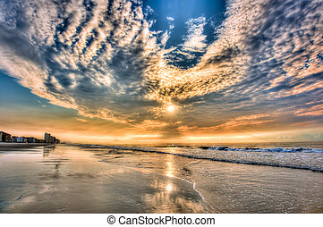 daytona, παραλία , sunrise!!