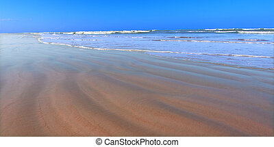 Daytona Beach Florida - Waves crash along the coast on a...