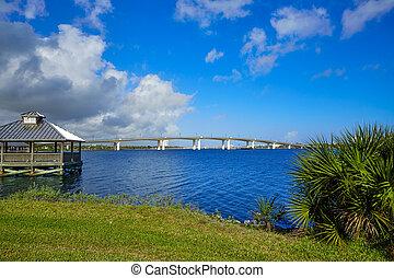 daytona, florida, halifax, folyó, tengerpart, fülke