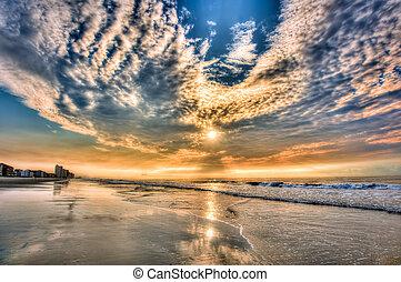 daytona, sandstrand, sunrise!!