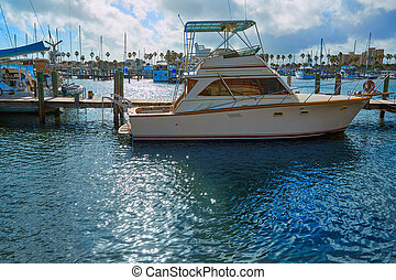 daytona, usa, florida, marina, csónakázik, tengerpart