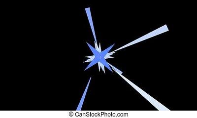 dazzling explosion rays light