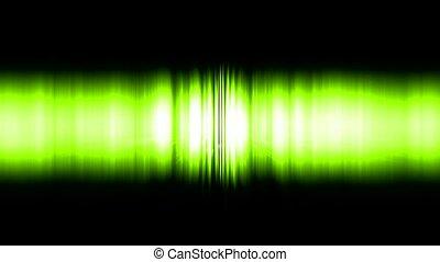 dazzling green noise rays light