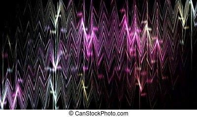 dazzling nightclub glass mirror screen,waveform...