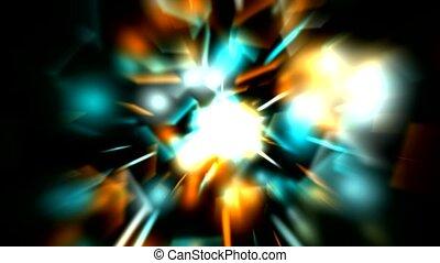 dazzling rays laser light
