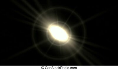 dazzling rays light from halo