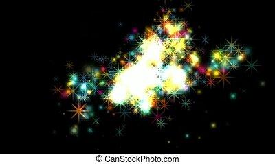 dazzling stars,fireworks,falling pa
