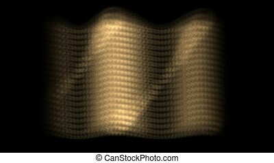dazzling sunlight on golden metal plate,motion wave light.