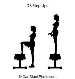 db, ステップ, シルエット, ∥上げる∥, 練習