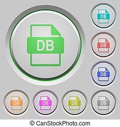 db, ファイル, フォーマット, 押しボタン