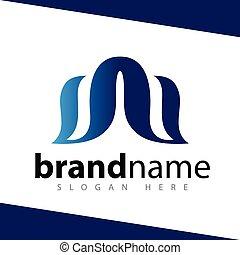 db, 手紙, 抽象的, ロゴ, デザイン, 株, テンプレート