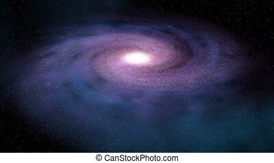 db Galaxy 01 - Blue/purple spiral galaxy in deep space....