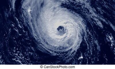 db Hurricane 01 - Large cloud hurricane animation, satellite...