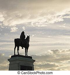dc., 像, ワシントン, 乗馬者