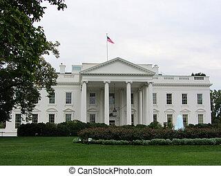 dc, 白色, 華盛頓, 房子, 美國