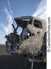 DC-3 US Navy, Iceland - DC-3 US Navy Plane Crash Wreckage ...