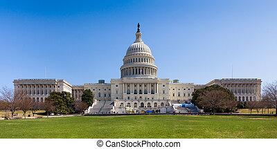 dc, bâtiment, capitole, nous, washington