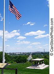 DC from the top of the Arlington Cemetery